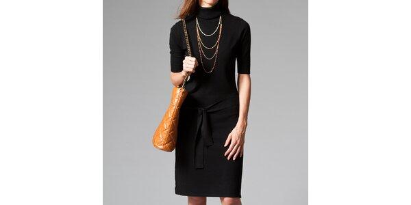 Dámske čierne šaty s roláčikom Pietro Filipi