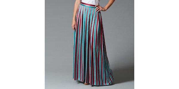Dámska pruhovaná dlhá sukňa Pietro Filipi