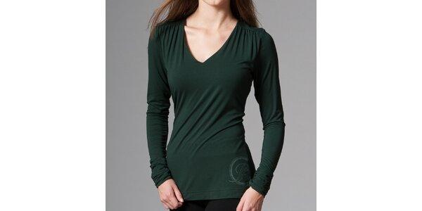 Dámske tmavo zelené tričko Pietro Filipi