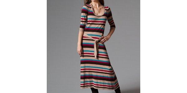 Dámske dlhé pruhované šaty Pietro Filipi