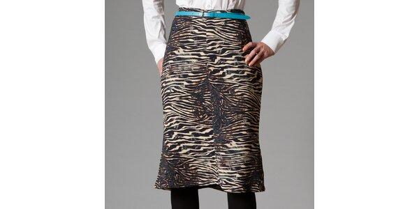 Dámska sukňa s tigrovaným vzorom Pietro Filipi