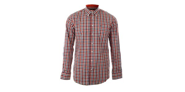 Pánska červená kockovaná košeľa Pietro Filipi