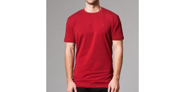 Pánske červené tričko s krátkym rukávom Pietro Filipi
