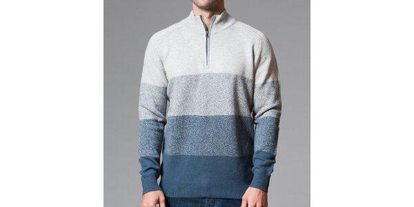 Pánsky sveter s modrými pruhmi Pietro Filipi
