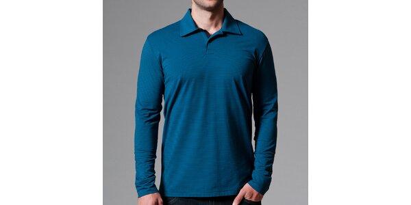 Pánske modré polo tričko s prúžkami Pietro Filipi