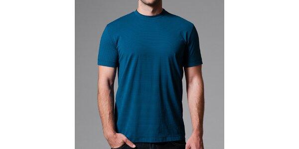 Pánske modré pruhované tričko Pietro Filipi