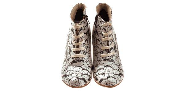 Dámske členkové topánky s veselou tvárou Elite Goby