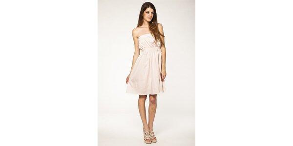 Dámske svetlo ružové šaty Tantra s čipkou