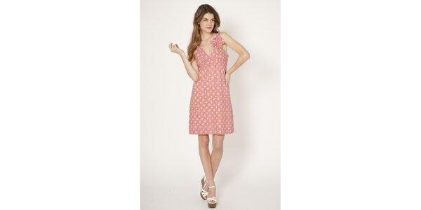 Dámske ružové šaty s potlačou Tantra