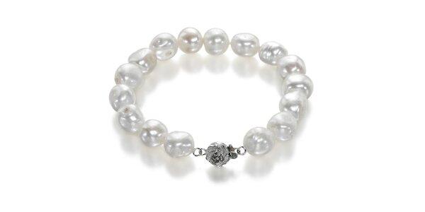 Náramok Orchira s bielymi perlami