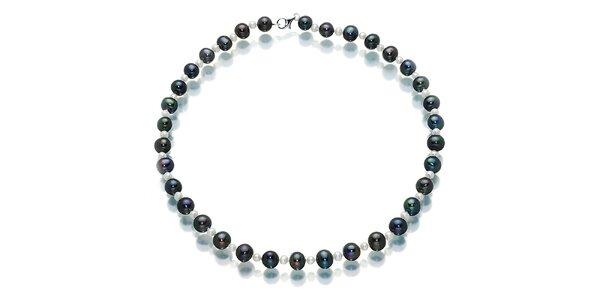 Čierno-biely náhrdelník Orchira