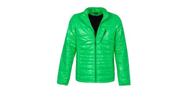 Pánska zelená prešívaná bunda Bergson