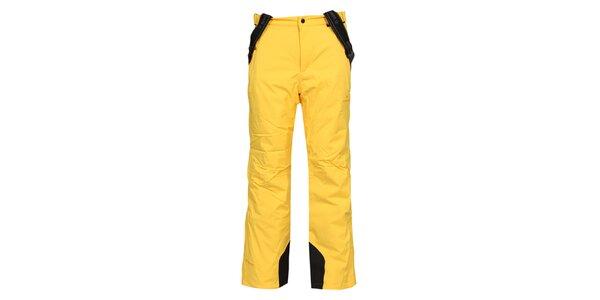 Pánske žlté lyžiarske nohavice Bergson