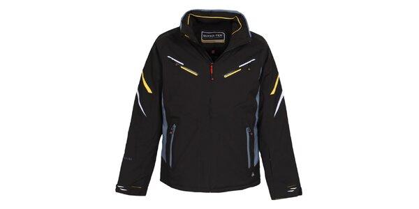 Pánska čierna lyžiarska bunda s membránou Bergson