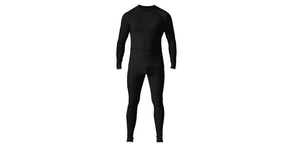 Pánský čierny set spodnej bielizne - tričko a nohavice Bergson