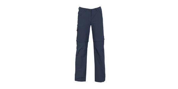 Dámske tmavo modré nohavice so zipsami na nohaviciach Bergson