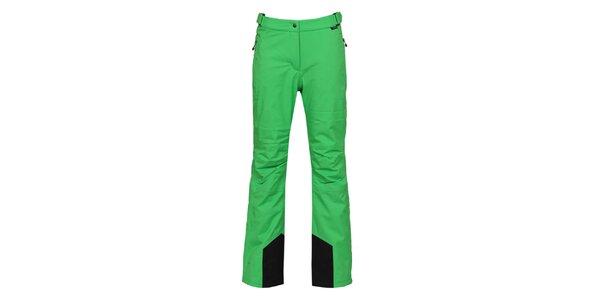 Dámske zelené lyžiarske nohavice s membránou Bergson