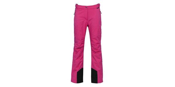 Dámske tmavo ružové lyžiarske nohavice s membránou Bergson