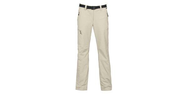 Dámske svetlo šedé outdoorové strečové nohavice Bergson