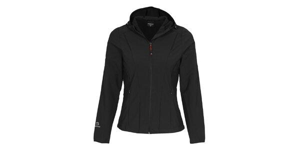 Dámska čierna softshellová bunda s kapucňou Bergson