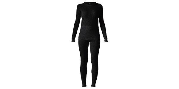 Dámsky čierny set spodnej bielizne - tričko a nohavice Bergson