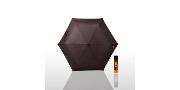 Dáždnik 100% NU - čierny/oranžový, čierny/modrý alebo čierny/fialový