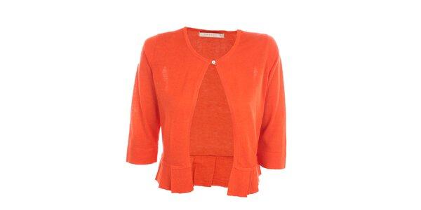 Dámsky sýto oranžový svetrík Nougat London