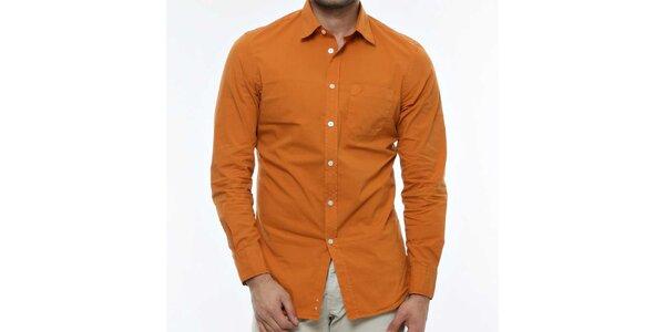Pánska tmavo oranžová košeľa Nautica