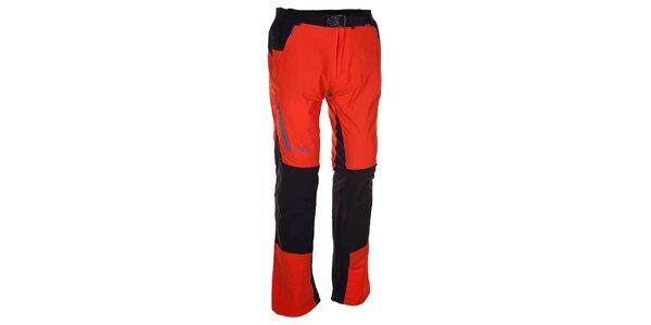 Pánske oranžovo-čierne nohavice Kilpi