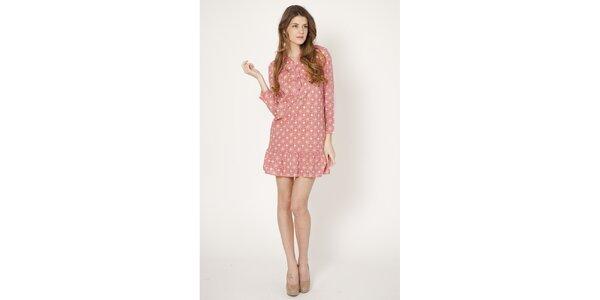 Dámske ružové retro šaty Tantra