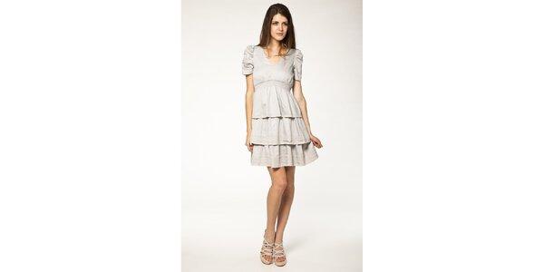 Dámske šedé šaty s volánmi Tantra