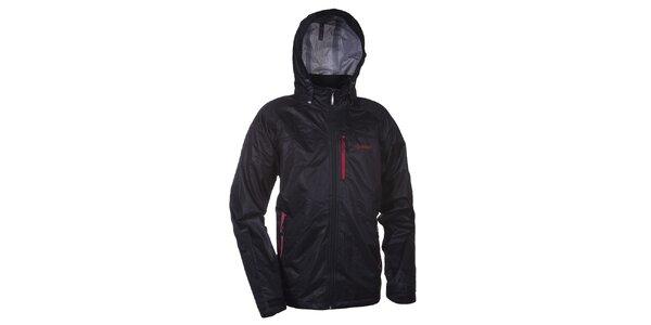 Pánska čierna bunda s kapucňou Kilpi