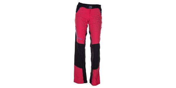 Dámske ružovo-čierne outdoorové nohavice Kilpi