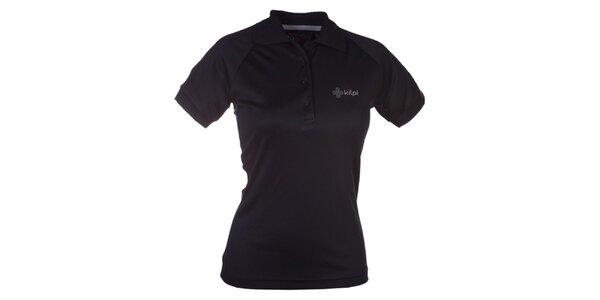 Dámske čierne funkčné polo tričko Kilpi
