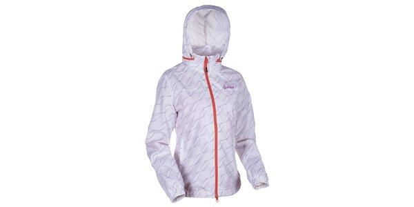 Dámska biela vzororvaná bunda s kapucňou Kilpi