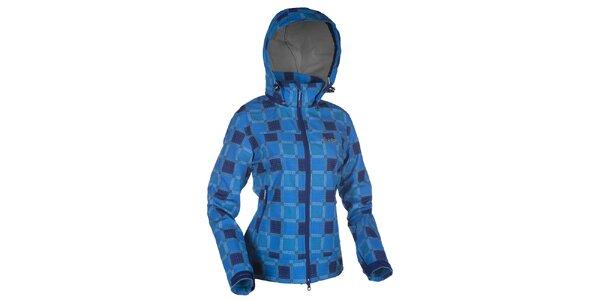 Dámska modrá kockovaná softshellová bunda Kilpi