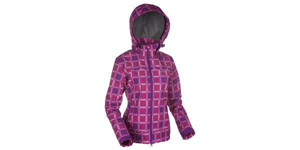 Dámska ružová kockovaná softshellová bunda Kilpi