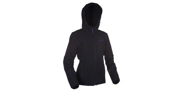 Dámska čierna softshellová bunda s kapucňou Kilpi