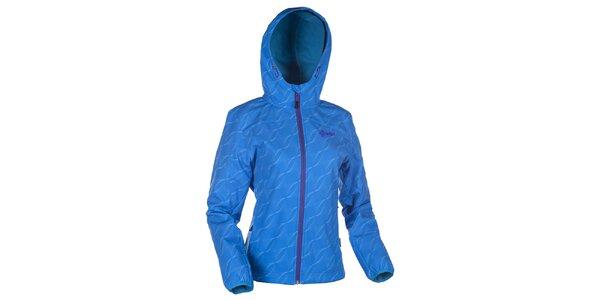Dámska modrá softshellová bunda s kapucňou Kilpi