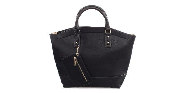Dámska čierna kabelka so zapínaním na zips Bessie