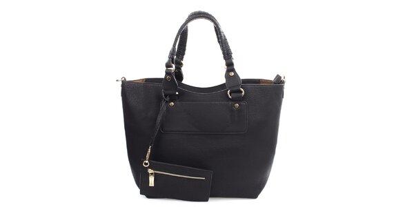 Dámska čierna kabelka s malým vreckom Bessie