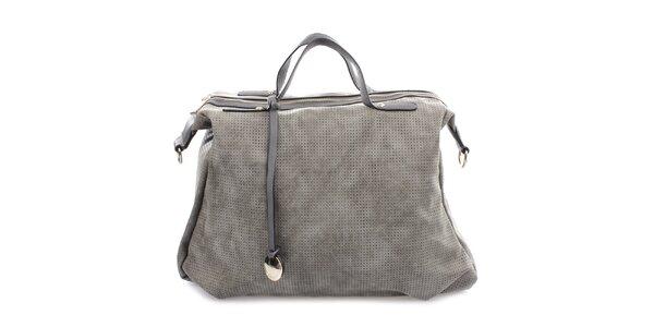 Dámska perforovaná kabelka na zips Bessie