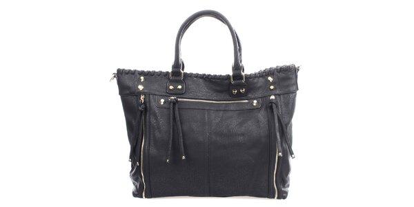 Dámska čierna kabelka so zipsami Bessie