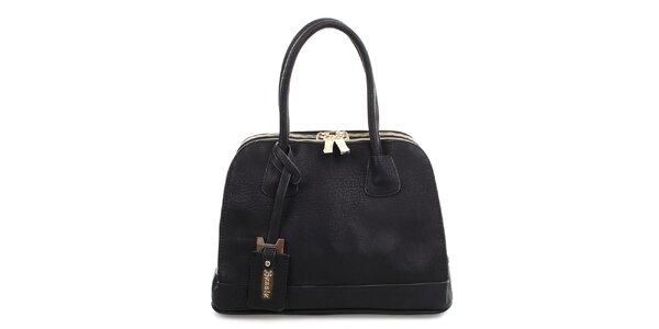 Dámska čierna kabelka s dvomi zipsami Bessie