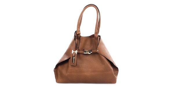 Dámska čierna kabelka so zlatým zámčekom Bessie