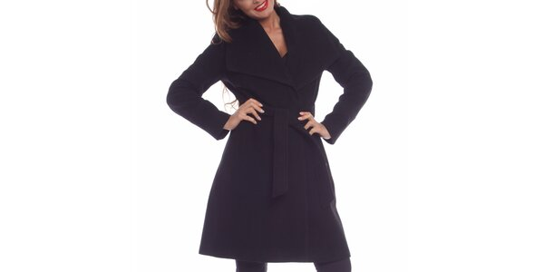 Dámsky čierny kabát Vera Ravenna