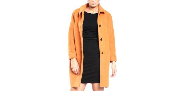 Dámsky broskyňový retro kabát Vera Ravenna