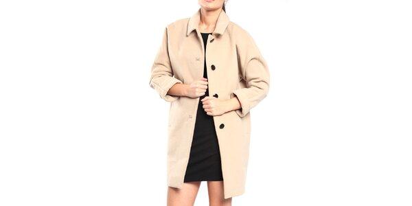 Dámsky béžový retro kabát Vera Ravenna