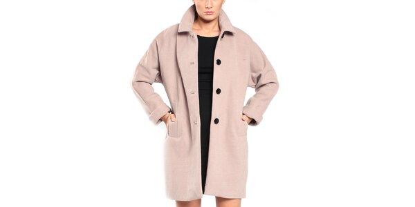 Dámsky šedobéžový retro kabát Vera Ravenna