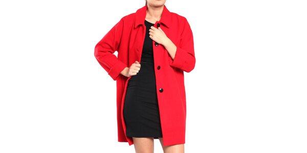 Dámsky červený retro kabát Vera Ravenna